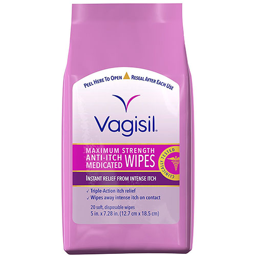 Vagisil Maximum Strength Anti-Itch Medicated Wipes
