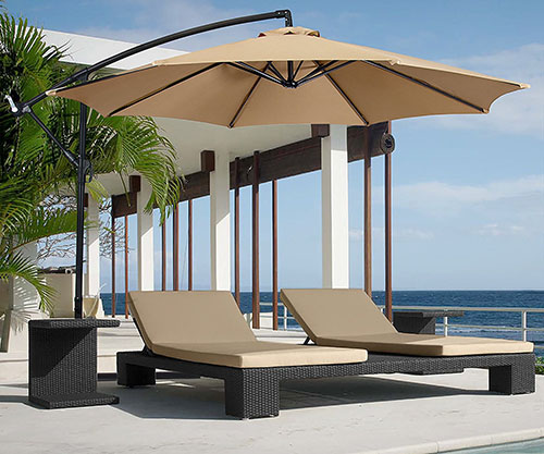 #6 Best Choice Products Patio Umbrella Offset