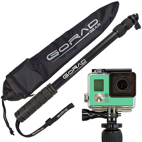 GoRad Gear Selfie Stick for GoPro Hero Cameras