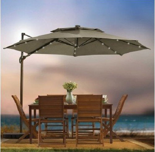 Outdoor Patio Cantilever Umbrella by Destination Summer