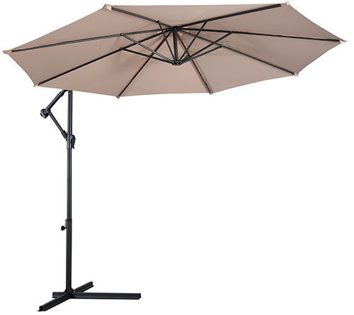 #4 Giantex Hanging Umbrella Patio