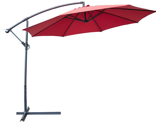 Delightful #9 SNAIL 10u2032 Octagonal Patio Offset Umbrella