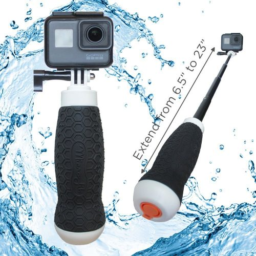 2d14085768782a FLOW by MicroJib | Waterproof Extendable Hand Grip + Floating GoPro Pole  6.5 – 23″ (For Hero 6, Hero 5, Hero 4, Session and Fusion)