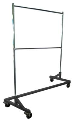 Heavy-Duty Commercial Grade Double-Bar Rolling Z Rack