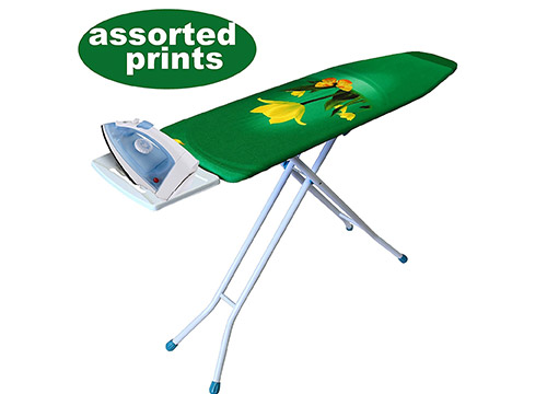 YBM Home 4-Leg Heavy Duty Deluxe Adjustable Height Ironing Board