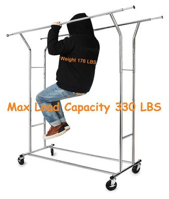 HOKEEPER 330 Lbs Load Capacity Commercial Grade Clothing Garment Racks
