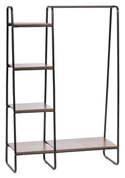 IRIS Metal Garment Rack, Dark Brown and Black