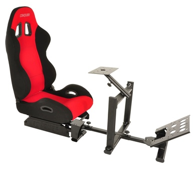 Conquer Racing Simulator Cockpit Driving Seat Reclinable