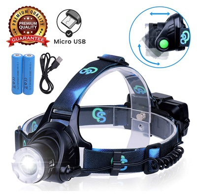 Rechargeable headlamp, hard hat light – adults led headlamp flashlight, perfect headlamps for camping, headlamps for adults, head flashlight, lamparas rechargeable.