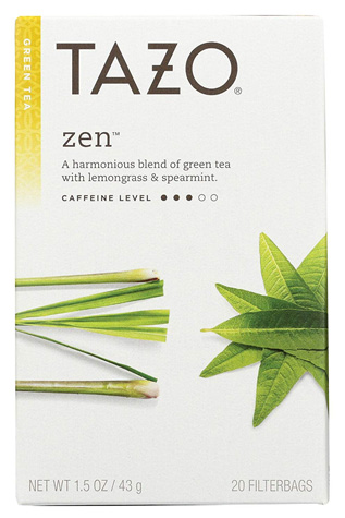 Tazo Zen Green Tea with Lemongrass and Spearmint