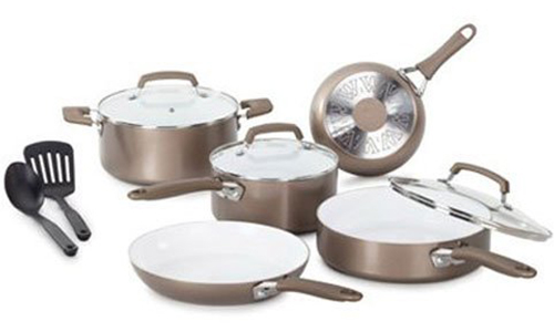 WearEver® Ceramic Nonstick Cookware 10-Piece Set