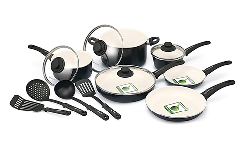 GreenLife™ Ceramic Nonstick Cookware 10- or 14-Piece Set