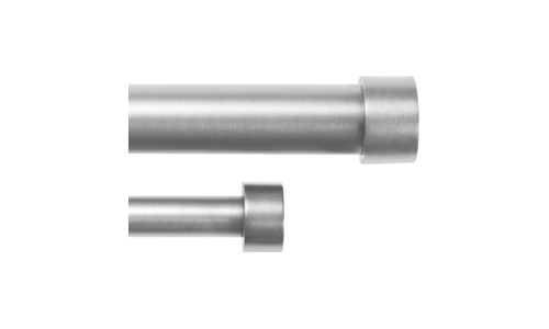 Umbra Cappa Brushed Nickel Double Curtain Rod Set for Window Drapery