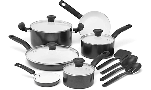 T-fal® Initiatives Ceramic Nonstick Cookware 14-Piece Set