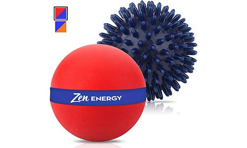 Zen Energy Pro Massage Muscle Roller Ball and Large Spiky Reflexology Ball: 5 Stars