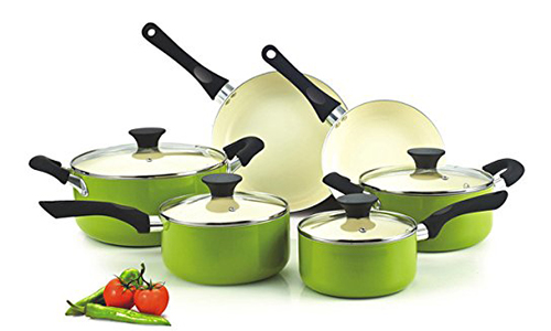 Cook N Home Nonstick Ceramic Cookware - 10-Piece Set