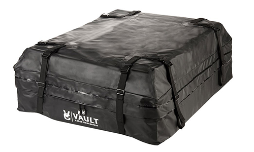 Waterproof Canvas Cargo Storage Roof Bag by Vault Cargo – On top of Car Bag - Straps to Crossbars or a Roof Basket