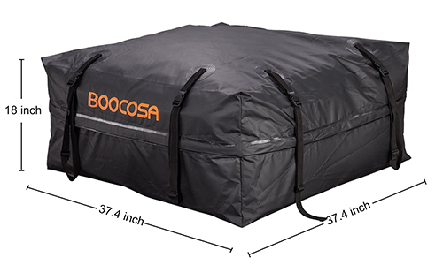 Waterproof Soft Roof Top Cargo Bag (15 Cubic Feet) with Straps