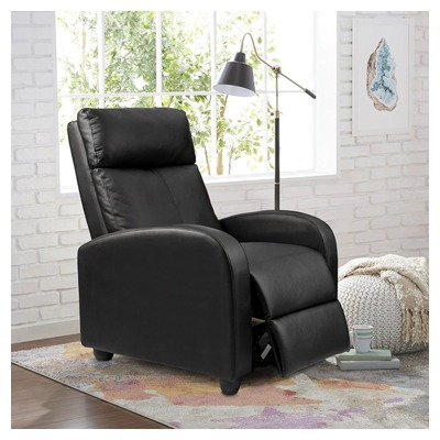 Single Recliner Padded Leather Chair by Homall