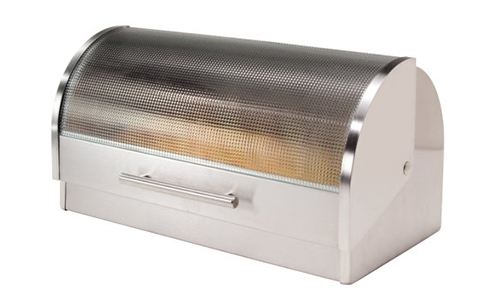 Oggi Stainless Steel Roll Top Bread Box