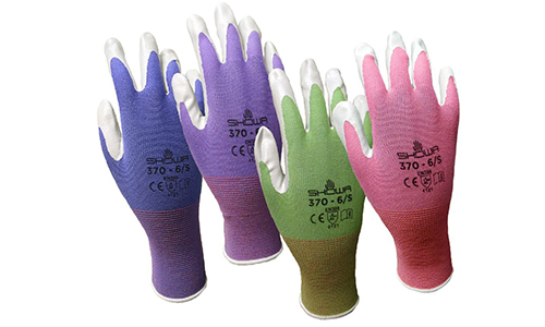 4 Pack Showa Atlas NT370 Atlas Nitrile Garden Gloves - Small