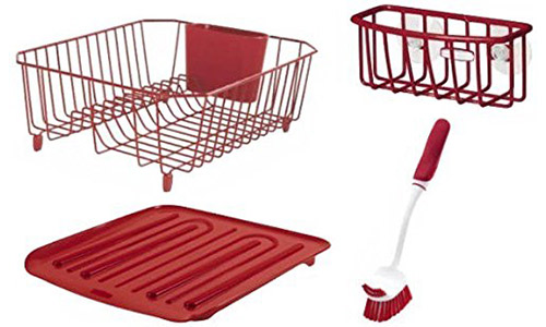 Rubbermaid 4-Piece Dish Rack Sinkware Set: