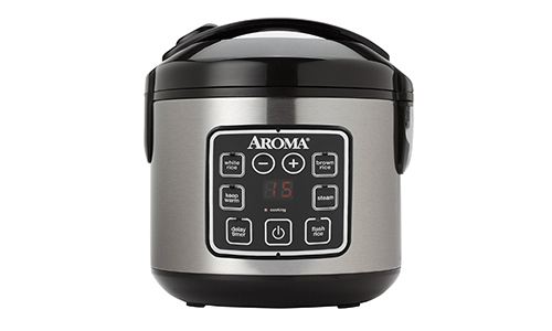 Aroma Housewares ARC-914SBD 8-Cup (Cooked) Digital Cool-Touch Rice Cooker and Food Steamer with Stainless Steel Exterior
