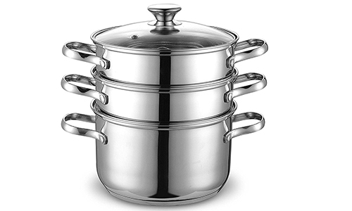 Cook N Home 4 Quart/8-Inch Double Boiler and Steamer Set