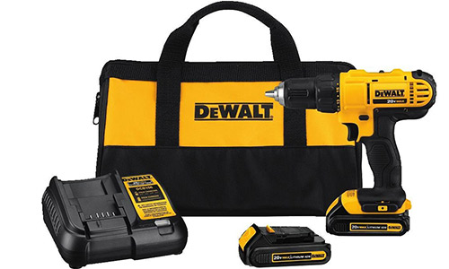 Dewalt DCD771C2 20V MAX Cordless Lithium-Ion 1/2 inch Compact Drill Driver Kit