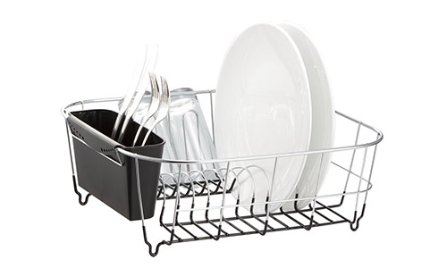 Deluxe Chrome-plated Steel Small Dish Drainers:
