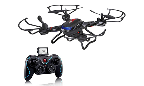HOLY STONE F181 RC QUADCOPTER DRONE WITH HD CAMERA RTF 4 CHANNEL 2.4 GHz 6-GYRO WITH ALTITUDE FUNCTION, HEADLESS MODE AND ONE KEY RETURN HOME, BLACK