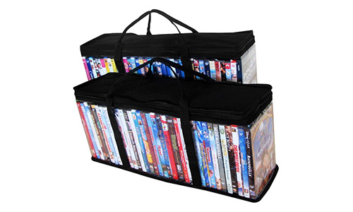 Evelots Portable Dvd Blu-Ray Storage Bags