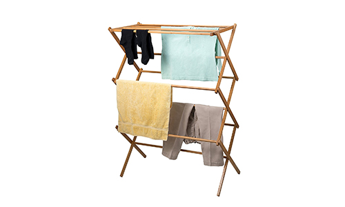 Home-It Bamboo Wooded Clothes Drying Rack
