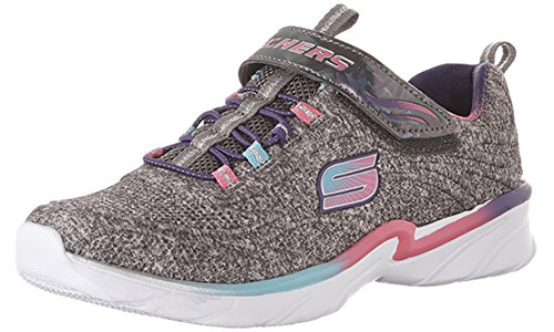 Skechers Kid's Swirly Girl Gore and Strap Sneaker