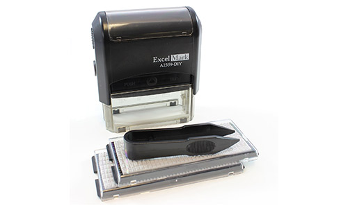 ExcelMark Self-Inking Do It Yourself Stamp Kit - A2359
