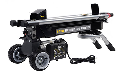Goplus New 1500W 6 Ton Electric Hydraulic Log Splitter Wood Portable Cutter Powerful