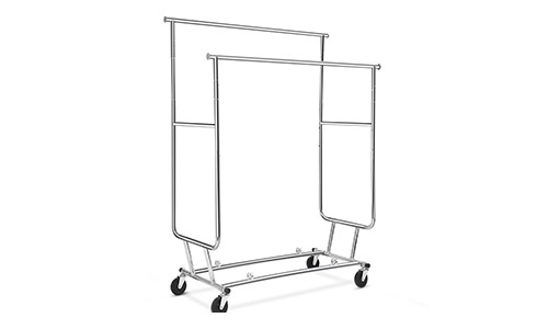 Floureon Double Rail Rolling Clothing Garment Drying Rack