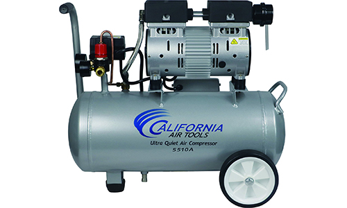California Air Tools CAT-5510A Ultra Quiet & Oil-Free 1.0 hp 5.5 gallon Aluminum Portable Electric Portable Air Compressor