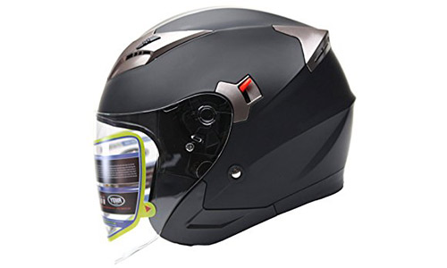 YEMA Motorcycle Open Face 3/4 Helmet