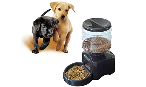 OUTAD 5.5L Automatic Pet Feeder with Voice Message Recording and LCD Screen