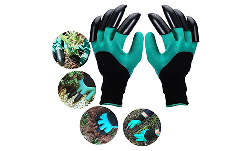 Petiner Garden Genie Gloves with Fingertips Claws