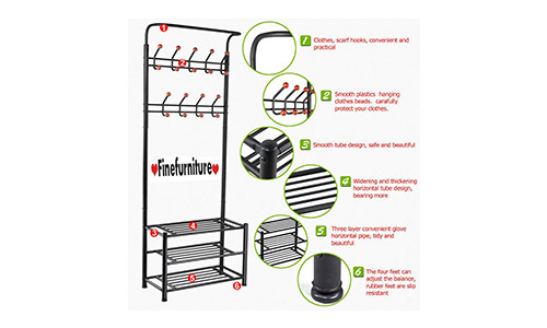 Entryway Coat and Shoe Rack by Fine Furniture