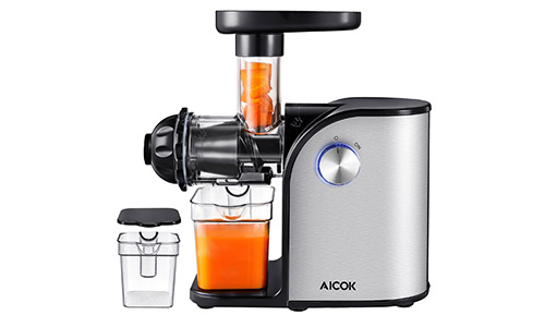 Aicok Slow Masticating Juice Extractor With Reverse Function : Top 5 Best Masticating Juicers in 2018