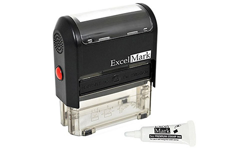 ExcelMark Custom Self Inking Rubber Stamp