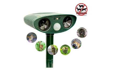 Ultrasonic Animal Repeller, Solar Powered by Zovenchi