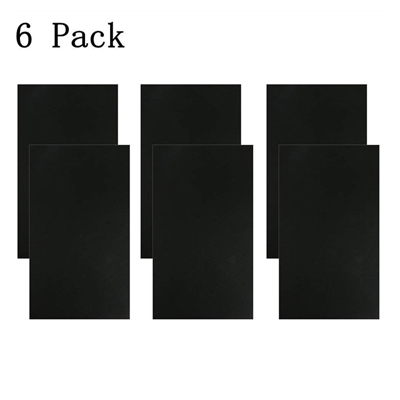 Nisorpa 6pcs self-adhesive leather repair patch black PU leather patch kit for couch furniture sofas car seats handbags jackets