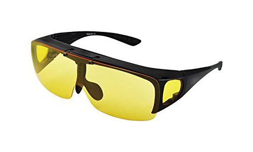 Headlight Night Vision Driving Fit Over Sunglasses