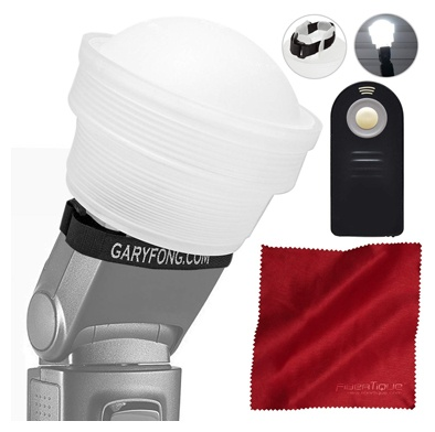 Gary Fong Lightsphere Collapsible with Speed Mount & Camera Remote