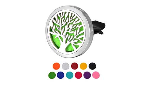 HOUSWEETY Car Air Freshener Aromatherapy Essential Oil Diffuser