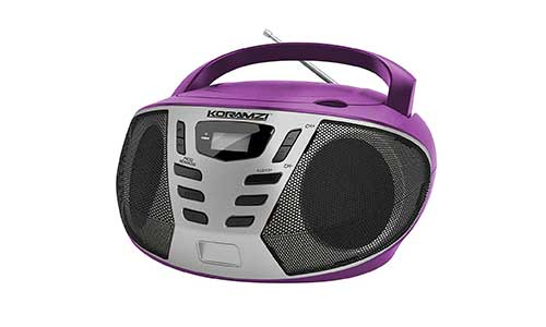 Koramzi Sports Portable CD Boombox